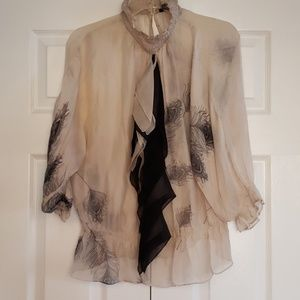 Zara Woman Silk Blouse Size M